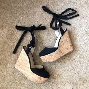 ASOS Black Wedge sandals size 7
